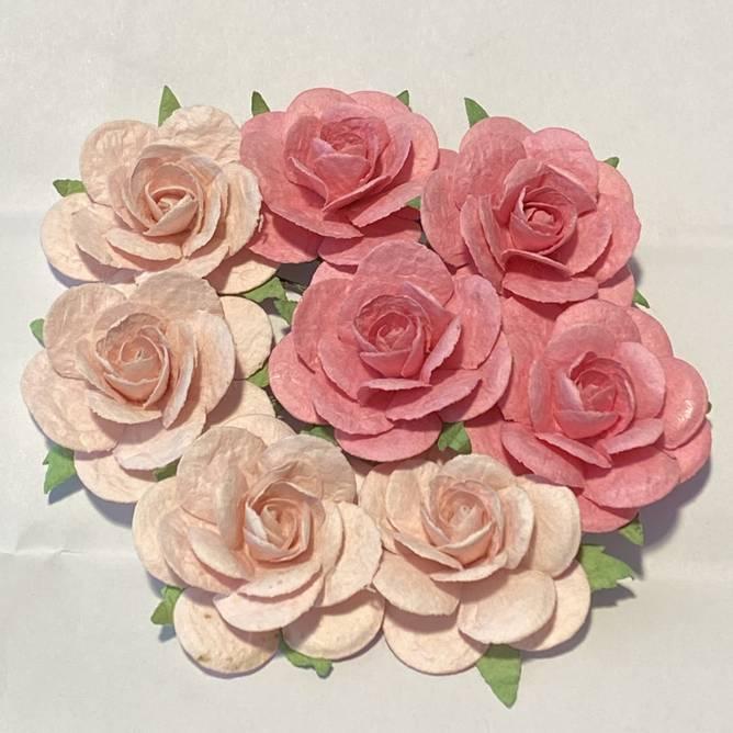 Bilde av Roser 3,5 cm, Lys rosa (6)