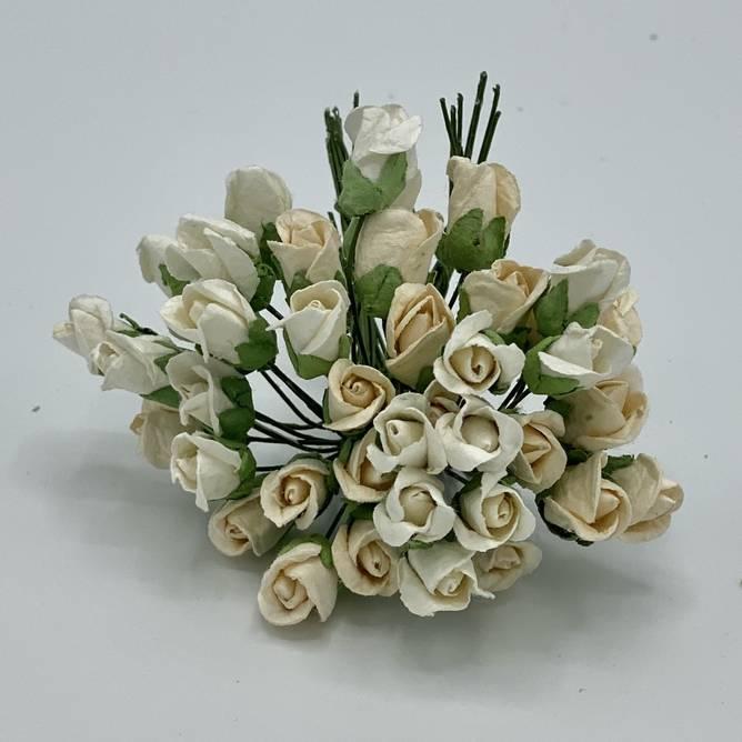 Bilde av Lukket rose, hvit / krem